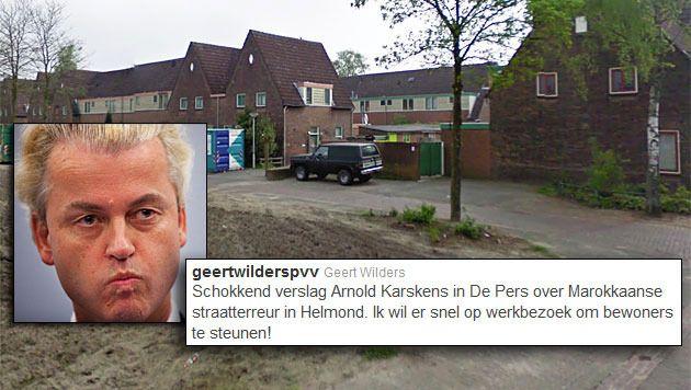 Wilders kondigde zijn bezoek twee weken geleden al aan via Twitter.