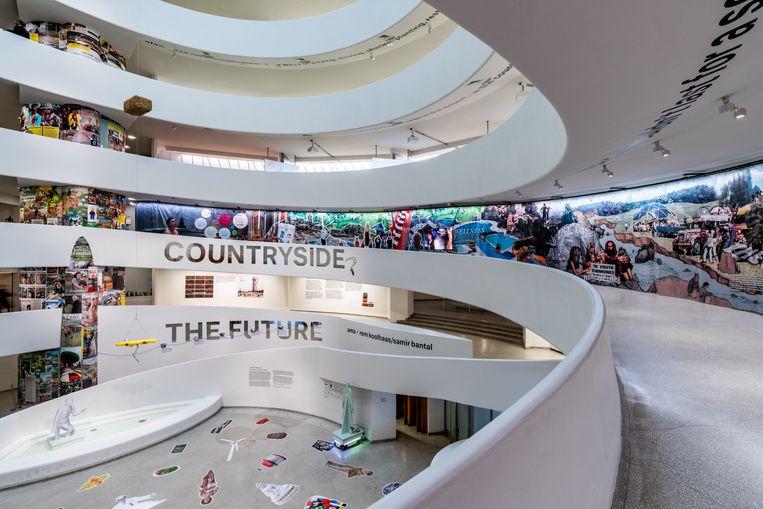 Beeld uit de tentoonstelling 'Countryside. The Future' in het Guggenheim in New York. Beeld