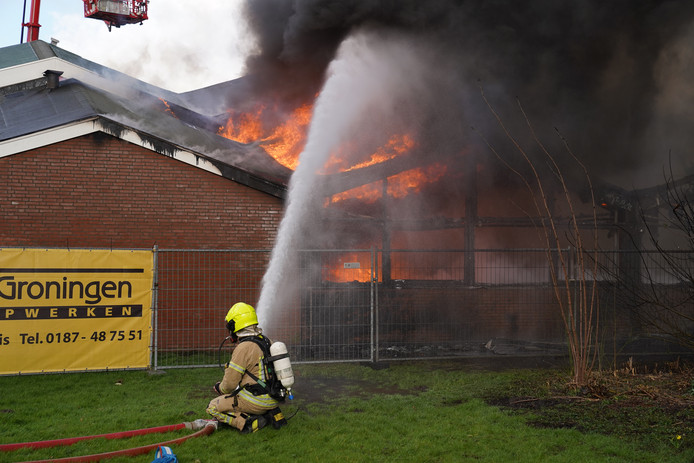 Brand in 't Onderdak in Krimpen aan den IJssel.
