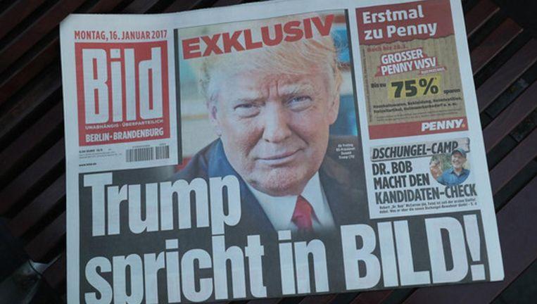 Interview met Donald Trump in Bild. Beeld getty