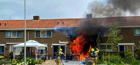 Brand in de Geitenkamp: een knal en het huis stond in lichterlaaie