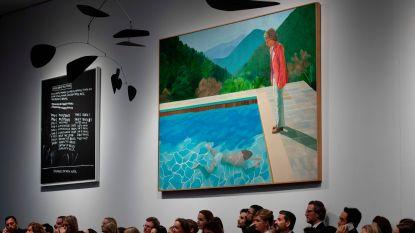 Iconisch schilderij David Hockney verkocht voor recordbedrag van 90,3 miljoen dollar