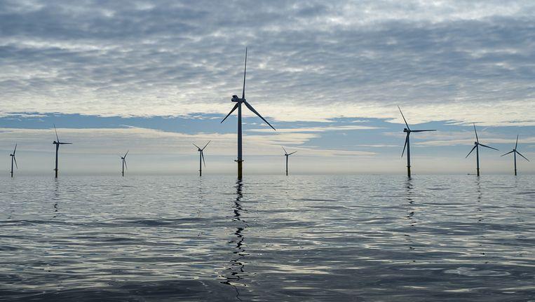 Een windpark in de Noordzee. Beeld anp