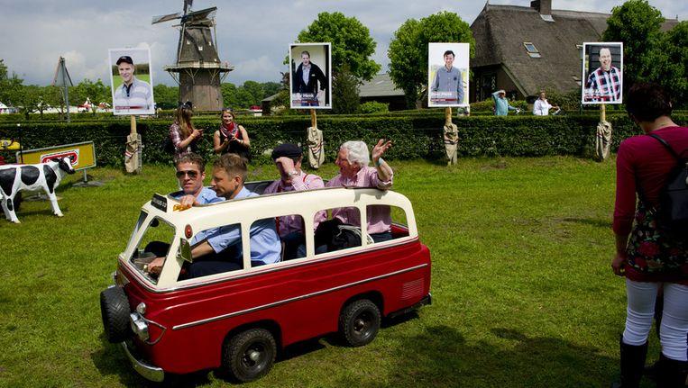 Foto's van vier van de boeren uit Boer zoekt Vrouw. Archieffoto. Beeld ANP