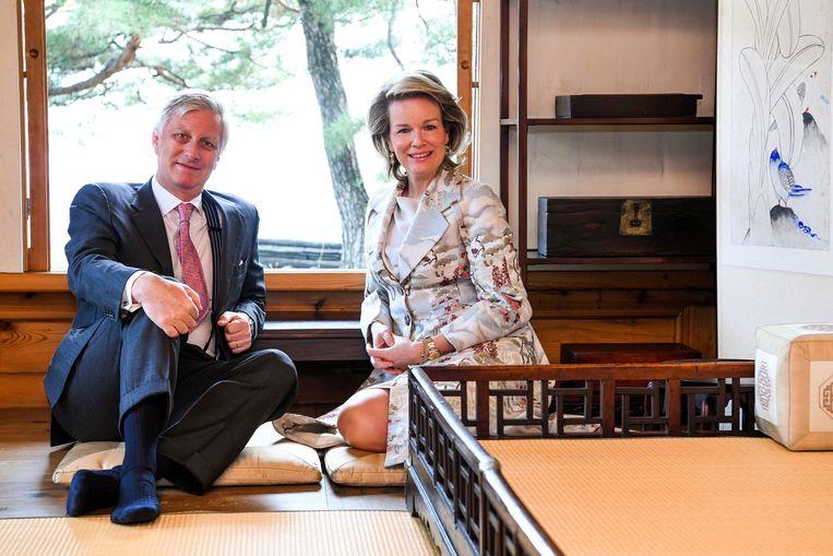 Koning Filip en koningin Mathilde bezochten het Korea Furniture Museum.