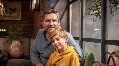 Roel Vanderstukken speelt samen met 8-jarige zoon in 'Familie'