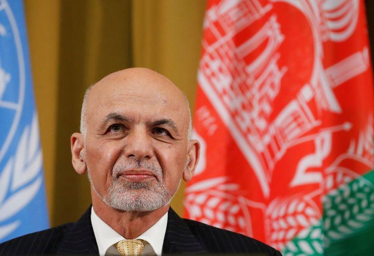 Ashraf Ghani, de president van Afghanistan.
