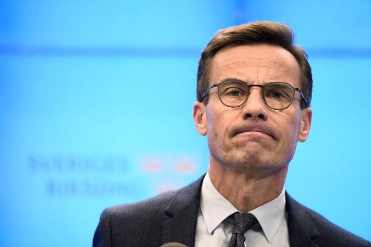 Ulf Kristersson van de conservatieve Moderaterna wil samen met de christendemocraten besturen.