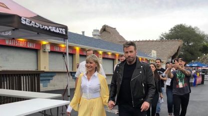 IN BEELD. John Travolta en Olivia Newton-John zijn 40 jaar na 'Grease' even terug Danny en Sandy