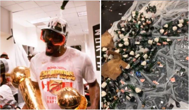 De Toronto Raptors hielden vannacht een stevig feestje.
