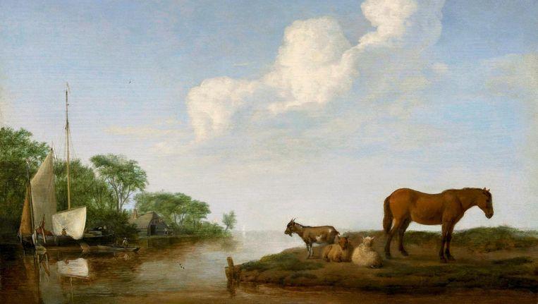 null Beeld De riviermonding, 1658, Museum der bildende Kunste, Leipzig.
