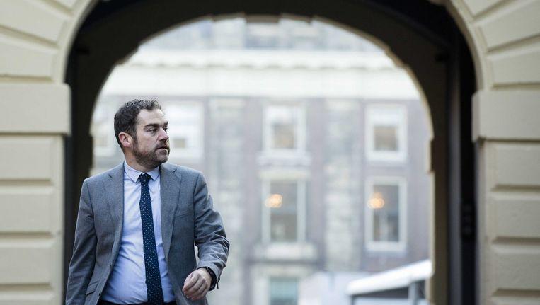 Staatssecretaris Klaas Dijkhoff is hét politieke gezicht in de asielcrisis. Zijn handelsmerk: nuchter problemen oplossen. Beeld epa