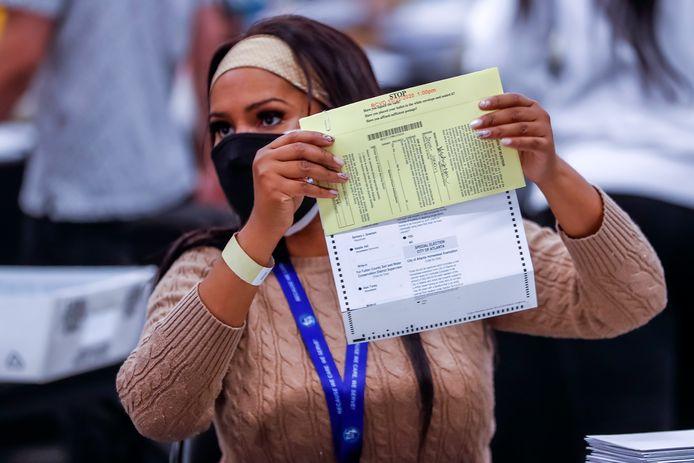 Fulton County omvat de grote stad Atlanta en stemde tot nu toe vooral voor Joe Biden.