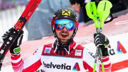 Marcel Hirscher wint ook slalom in Adelboden