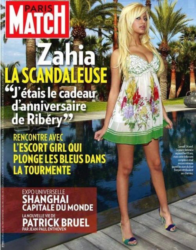 Zahia deed haar ontboezemingen in Paris Match.