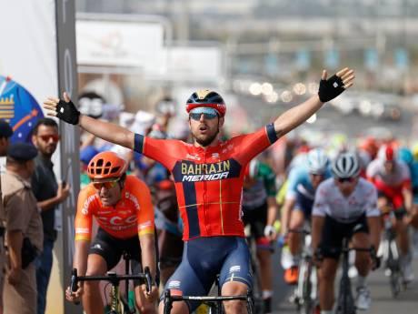 Colbrelli wint sprint heuvelop van Van Avermaet in Oman