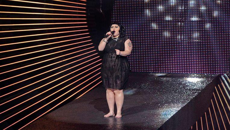 Beth Ditto, zangeres van de Amerikaanse band Gossip. Beeld reuters