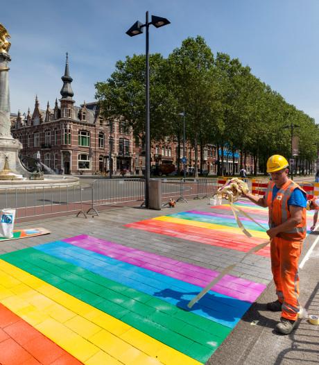 Raad Halderberge praat in juni over een mogelijk regenboog-zebrapad in Oudenbosch