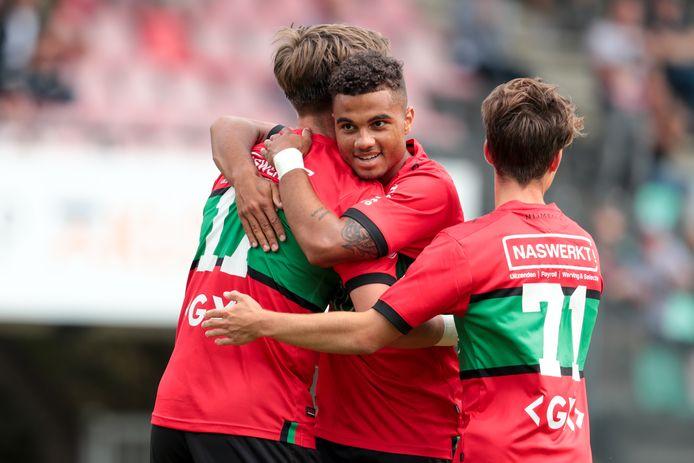 Ole Romeny, Anton Fase en Dirk Proper; drie van de Nijmeegse spelers die het in zich hebben (met NEC) tot verrassing van de eerste