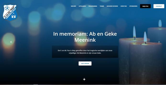 De website van Pax