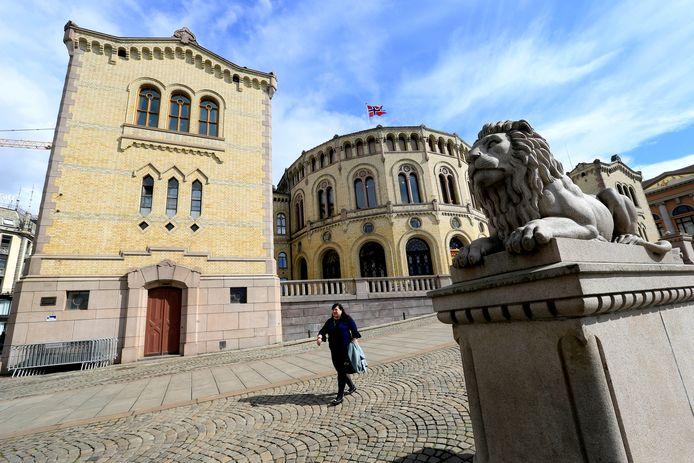 Het parlementsgebouw in Oslo