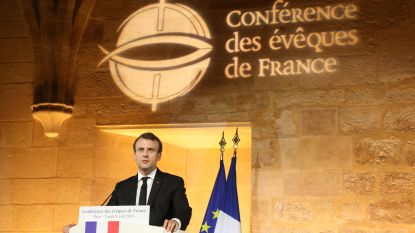Macron: 'Franse president die zich afkeert van de kerk doet werk niet goed'