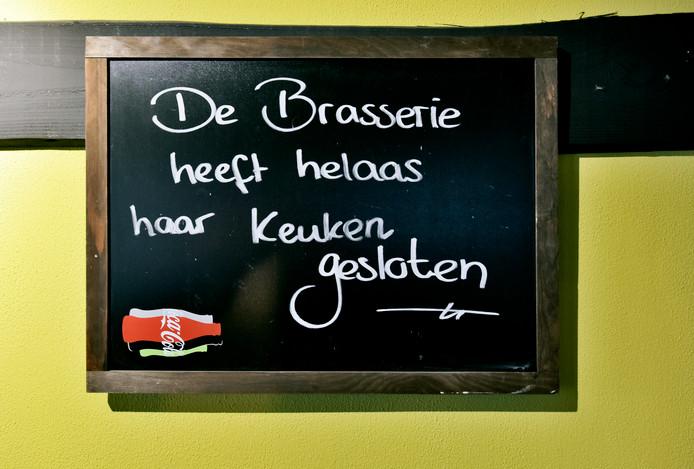 Geen daghappen meer in de Brasserie Beek.