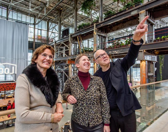 (Vlnr.) Architecten Francine Houben, Ingrid van der Heijden en Job Roos.