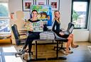 Angelique van Tilburg en Suzanne Huig runnen samen de kinderkrant Jong010 in Rotterdam en willen dat er in heel Nederland kranten voor de jeugd worden gemaakt.