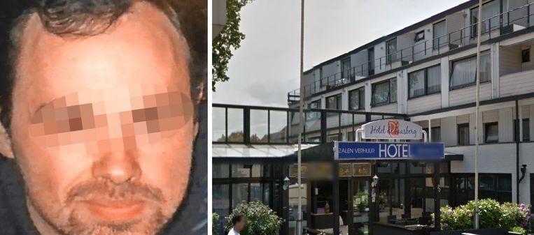 Thomas D.B. stak op 22 april een agent neer in dit hotel in het Nederlandse Ede.