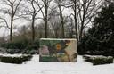 Het monument ter nagedachtenis van omgekomen joden uit Apeldoorn. Foto Cees Baars