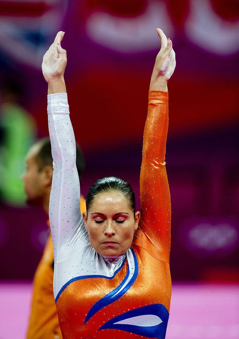 Rea Lenders op de Olympische Spelen van London Beeld anp