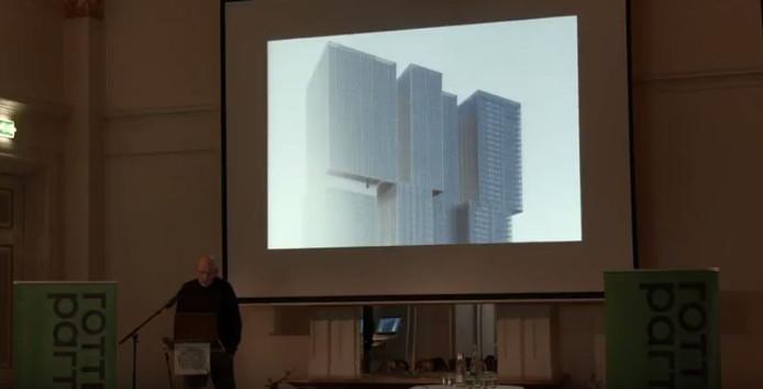 Rem Koolhaas spreekt tijdens de zevende D.G. van Beuningenlezing.