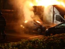 Meerdere voertuigen in brand in Nijkerk