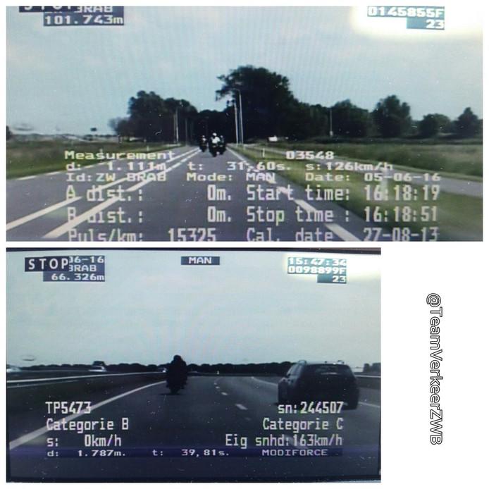 De video-auto legde de overtredingen vast.