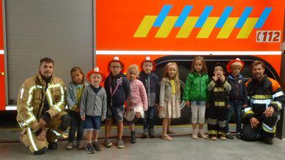 Kleuters op bezoek bij de brandweer
