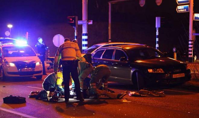 Hulpverleners spoedden zich februari vorig jaar naar de Rondweg-Noord bij Nieuwland.