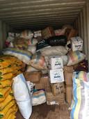 Hulpgoederen worden ingezameld voor het getroffen gebied in Mozambique.