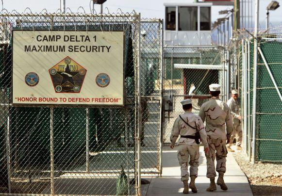 Een afdeling van het detentiecentrum in Guantánamo Bay. Archiefbeeld uit 2006.