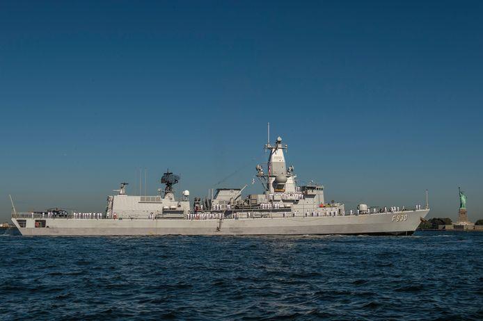 Het fregat Leopold 1 en de andere schepen van de NAVO-vloot SNMG 1 hebben op 30 augustus een belangrijke tussenstop gemaakt in Manhattan. Na enkele dagen herbevoorrading in de haven stoomt de vloot daarna verder naar de Canadese haven van Halifax.