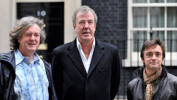 Het voormalige Top Gear-trio: James May, Jeremy Clarkson en Richard Hammond.