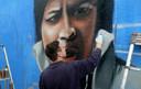 The Combi Killers - Holland restylen de Kadetunnel voor 750 jaar Roosendaal met een portret van Jack Jersey.