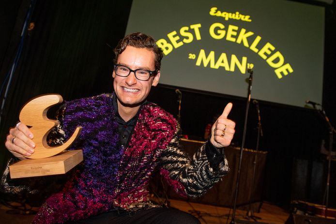 Splinter Chabot is donderdag door jury en lezers van Esquire uitgeroepen tot Best Geklede Man van 2019.
