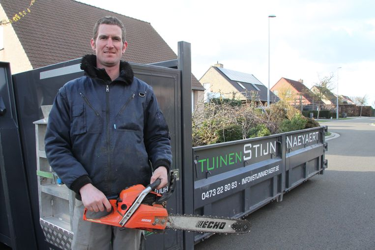 Voor tuinaannemer Stijn Naeyaert was het extra druk.