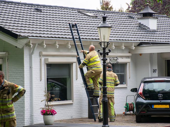 De brandweer heeft de woning geventileerd.