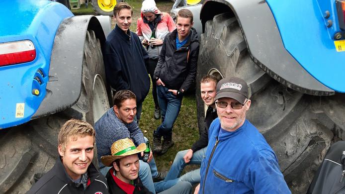 Boeren tijdens de actie in Den Haag. Op de foto uiterst rechts Boer Pepijn van der Beek.