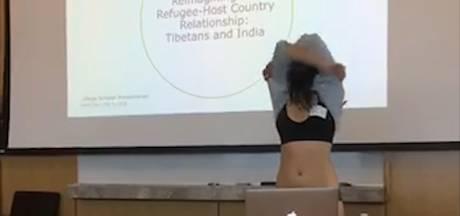Student stript bij afstuderen na opmerking van docent over 'te korte' broek