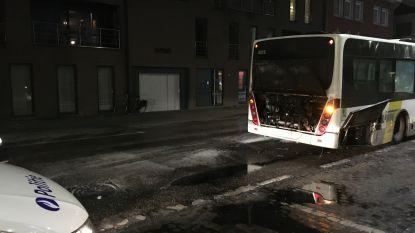 Motorblok van autobus brandt uit