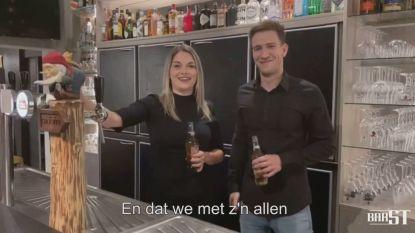 Molse cafébazen spreken klanten toe in filmpje