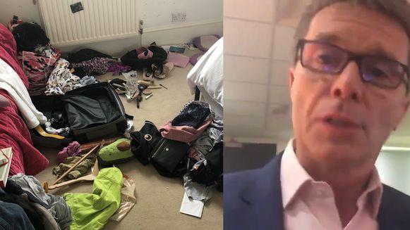 BBC-presentator Nicky Campbell deelde een foto van de rommel in zijn dochter haar kamer
